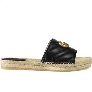 Pilar Gucci Espadrilles Slide Sandals